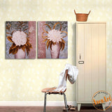 2 Piece Set Peony Flower Picture Vase Painting for Living Room Modern Art Canvas Prints Vintage Paintings No Frame