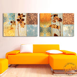 2 Piece Set Abstract Flower Painting Vintage Painting Home Decoration Wall Art Canvas Prints Wall Picture Unframed