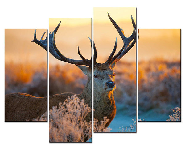 4 panels Sell The Abstract Deer Modern Home Wall Decor Painting animal Canvas Art HD Print Painting Canvas Painting Wall Picture