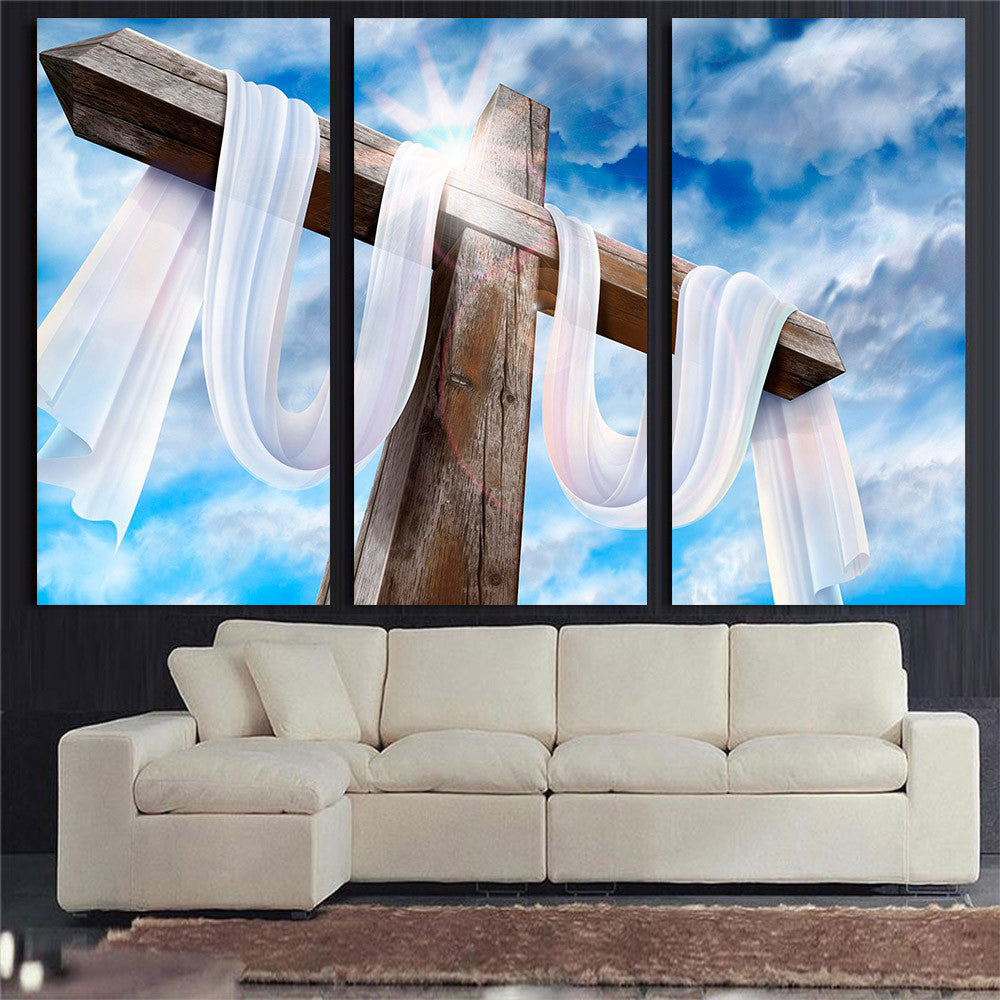 3 Panel Jesus Clounds Canvas Painting Oil Painting Print On Canvas Home Decor Wall Art Wall Picture For Living Room Unframed