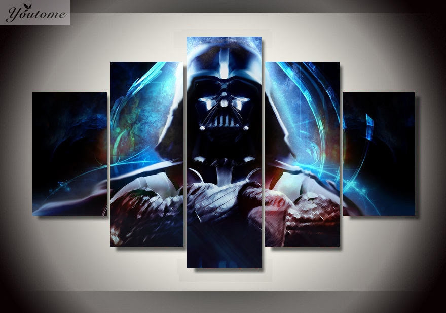 5 panel canvas art star wars ship pop movie art prints poster abstract ellaseal - Star wars wandbild ...