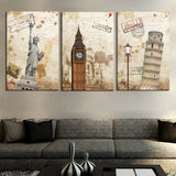 3 Pcs(No Frame) Wall Art Modern The City Landscape HD Picture Home Decoration Living Room Canvas Print Painting Canvas Picture