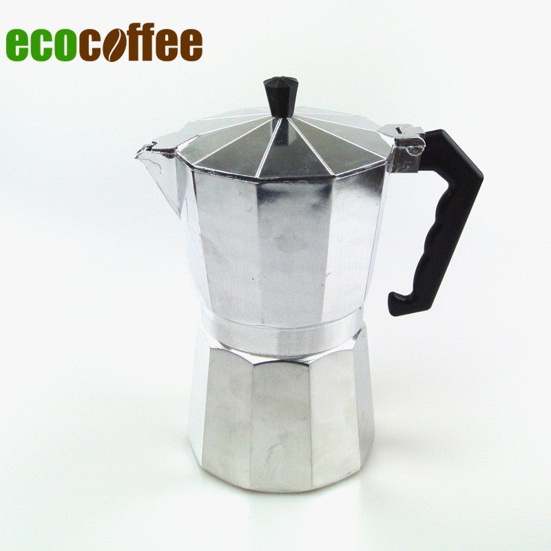 1PC Free Shipping 3/6/9/12 Cups High Quality Espresso Aluminum moka pot  Espresso Coffee Makers