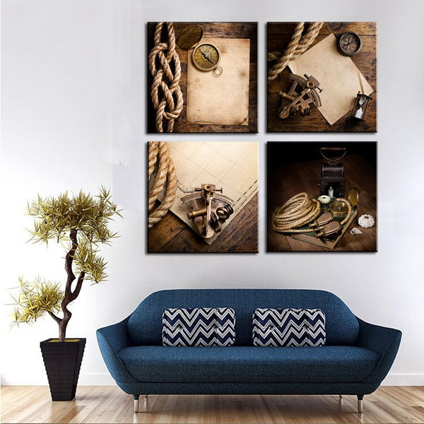 Unframed 4 Piece Modern Rope Watches Pictures Home Wall Decor Canvas Art Picture Print Painting On Canvas For Home Decor