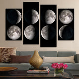 4 Pcs(No Frame)  Modern Abstract  Planet  Wall Painting Home Decorative Art Picture Paint On Canvas Prints Pictures
