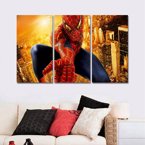 3 Panel Spider-man Canvas Painting Picture Printed on Canvas Wall Art Oil Painting Wall Decor Poster and Print Mordern Unframed