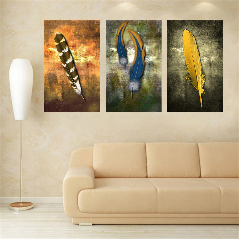 Oil Paintings on Canvas Feather White Modern Abstract Oil Painting ...