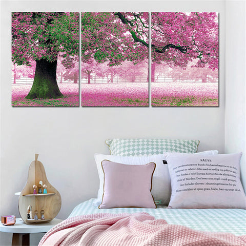 3 Pieces Flower Painting Wall Decor Modern Canvas Art Posters Oil Painting Landscape Cuadros Decoracion Home Decor Unframed