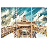 3Pcs/Set Canvas Painting Unframed Poster Eiffel Tower Modern Oil Pictures HD Home Decoration Paris City Modular Wall Paintings