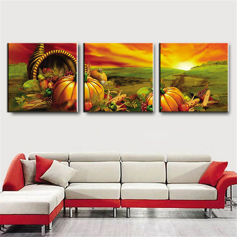 3 Panel Large Modern Printed Sunset Fruit Oil Painting Picture Cuadros Decoracion Canvas Wall Art for Living Room Unframed