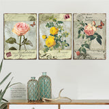 3 Panel Modern Countryside Flower Canvas Painting HD Poster Cuadros Canvas Art Oil Pictures Home Decor for Living Room No Frame