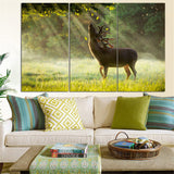 3 Pieces Unframed Deer Canvas Painting Animal Landscape Quadros Decoration Poster and Print Wall Art Oil Picture for Living Room
