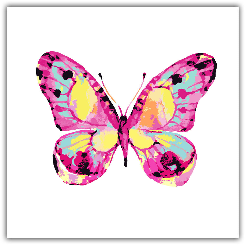 Watercolor Insects Beautiful Colorful Butterfly Print Poster