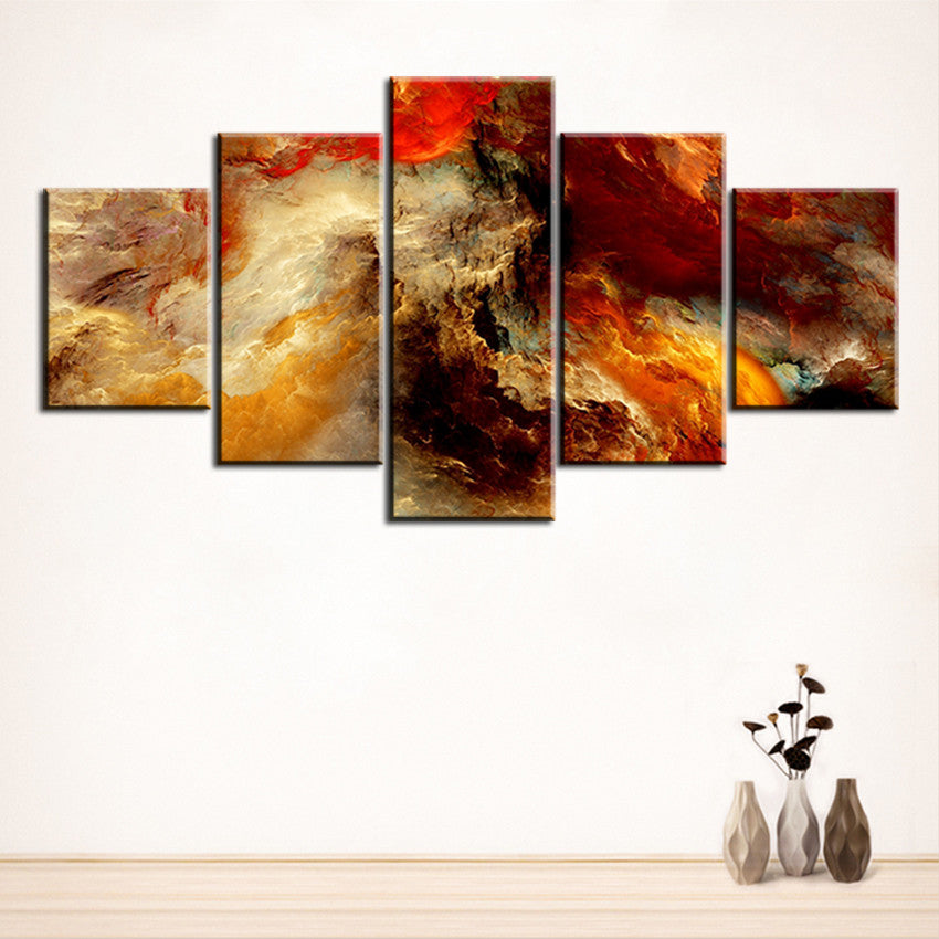 5 pc Set galaxy abstract cloud NO FRAME Oil Painting Canvas Prints ...