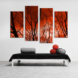 4PCS The sky caught fire HD Wall painting print on canvas for home decor ideas paints on wall pictures art No framed