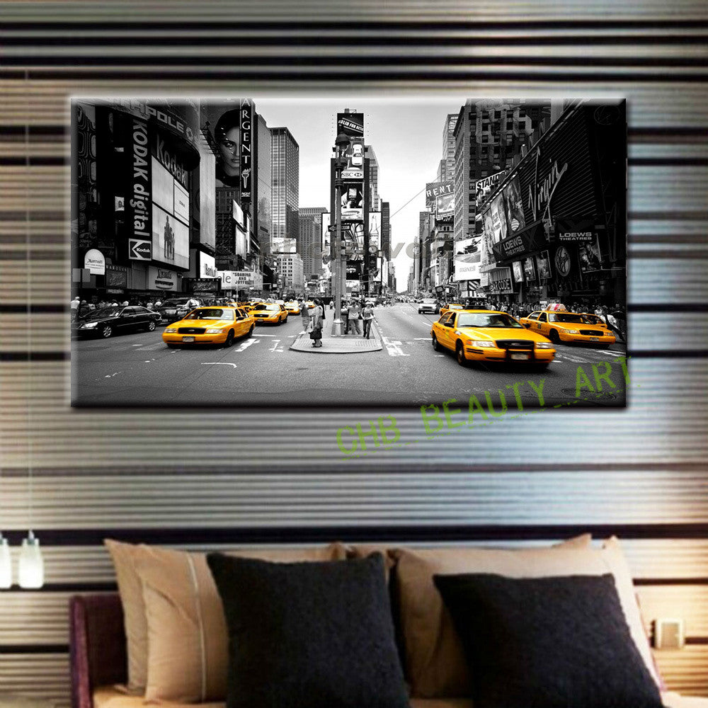 2016 Canvas Painting New York Taxi Street Modern Wall Pictures For Living Room Printed Home Decoration Art (No Frame)
