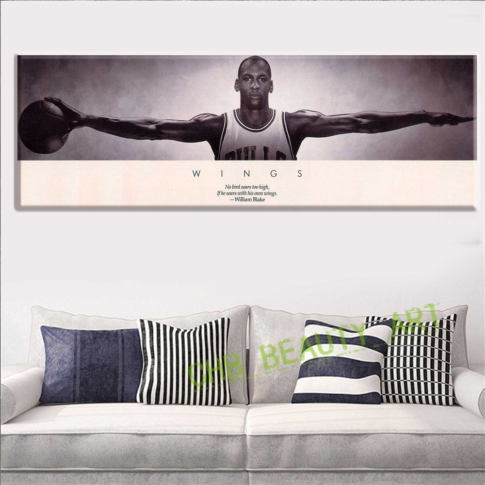 Michael Jordan WINGS MJ 23 Basketball Poster Print 3 Size Poster And Prints  For Home Decorate