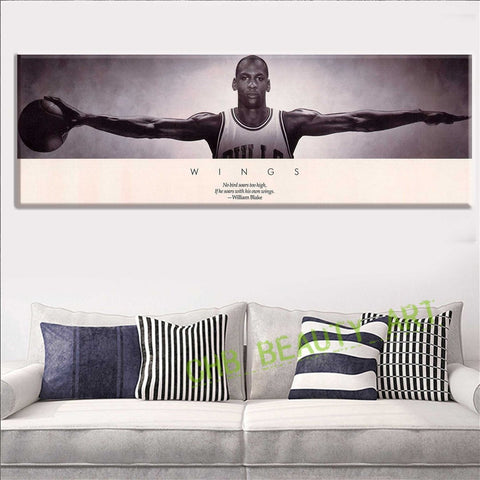 Michael Jordan WINGS MJ 23 Basketball Poster Print 3 Size Poster And Prints For Home Decorate Unframed