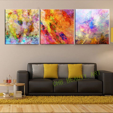 3 Piece Abstract Psychedelic Art Painting Canvas HD Prints Wall Pictures For Living Room Decorative Picture Unframed
