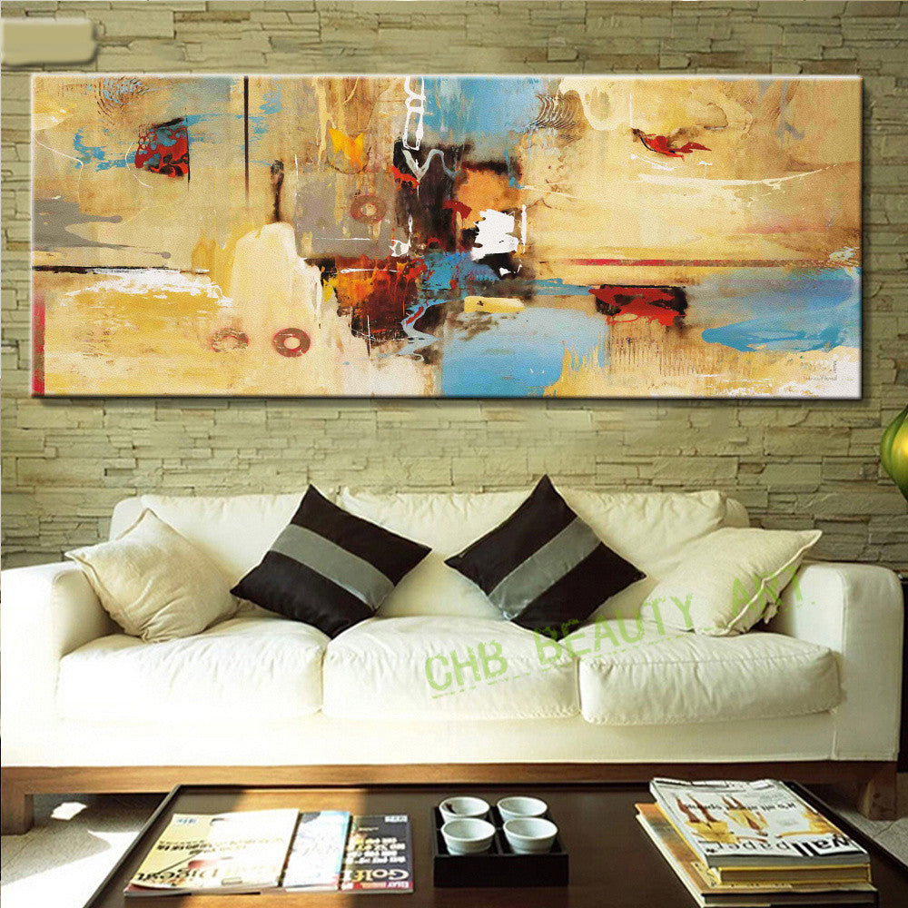 Large Abstract Painting Art Printed Canvas Painting Home Decoration ...