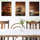 3 Panels Classic coffee canvas art modern oil painting wall pictures