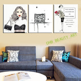 3 pieces canvas wall art canvas painting CC Fashion landscape wall Pictures for living room HD print Unframed