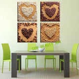 4 Piece Wall Art Modern Seeds Love Oil Painting Prints On Canvas Home Decoration Wall Pictures for Kitchen Room Unframed