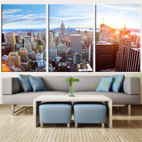 3 Piece Canvas Wall Art New York Printed Oil Painting On Canvas  Wall Pictures for living Room Home Decoration Unframed