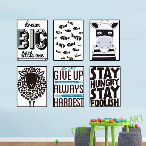 6 Piece Motivational Poster Prints Decorative Picture Canvas Painting Home Decor Wall Art Unframed