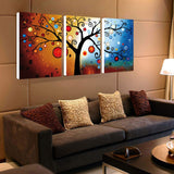 3 panel Lucky Tree modern abstract print painting unframed wall pictures for living room heavy color canvas art home decoration