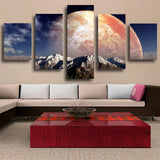 5 Panel Modern Art Canvas Painting Beautiful Earth Wall Pictures For Living Room&bedroom HD Print Home Decor