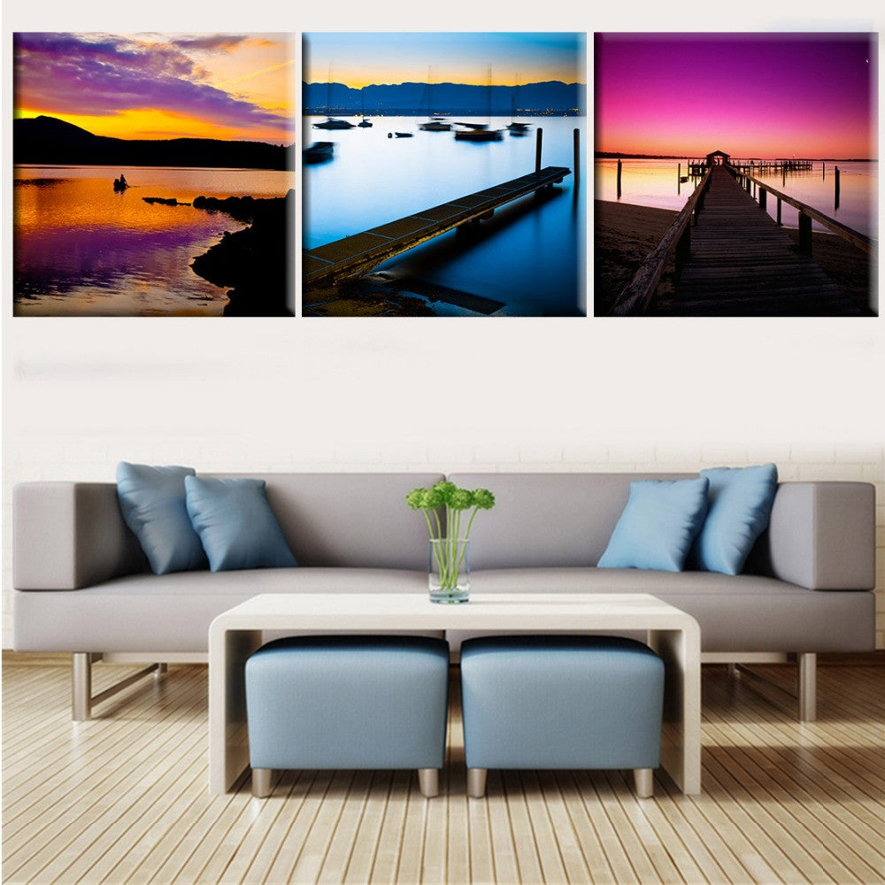 3 Piece Canvas Wall Art Modern Kitchen Canvas Paintings White Wine Bar Dinning Room Decorative Pictures HD Print