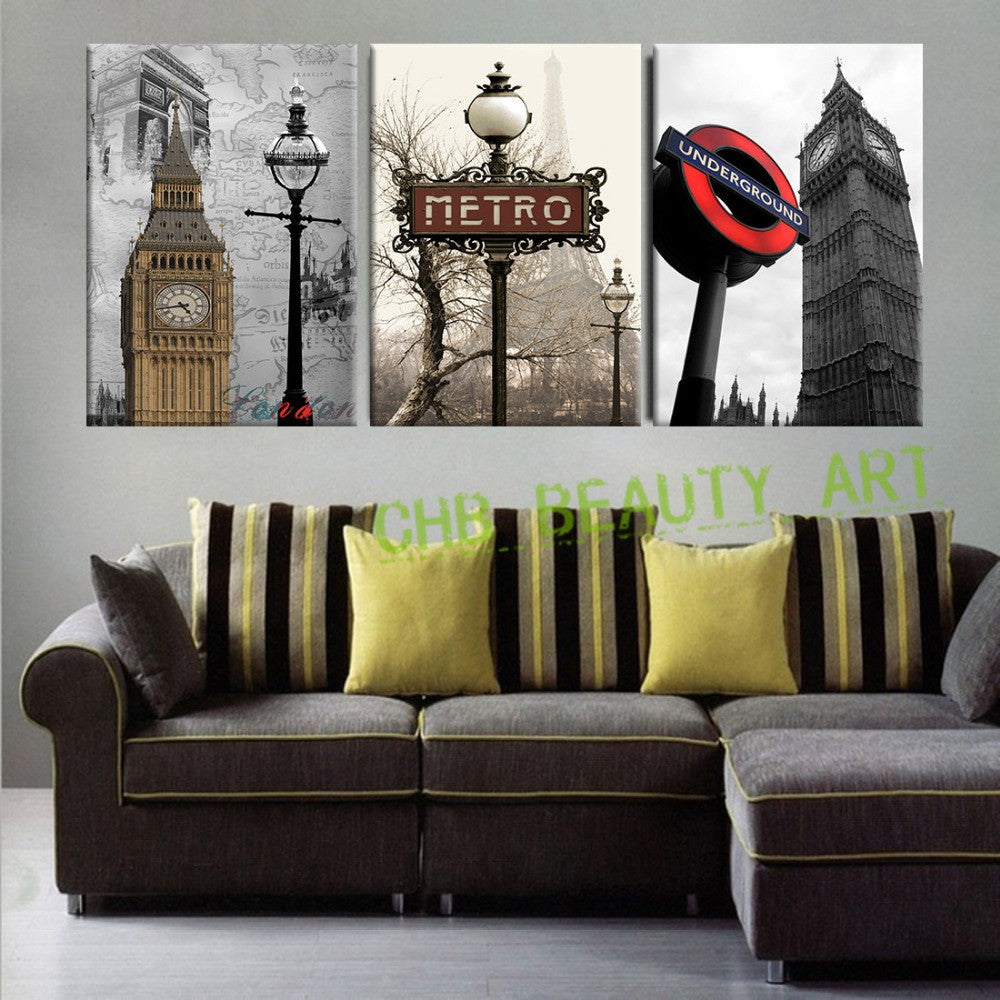 3 panel wall art paintings famous european building landscape wall pic ellaseal