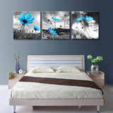 3 Panel Cosmos flowers blooming decoration pictures  home decor printed paintings on canvas wall pictures for living room