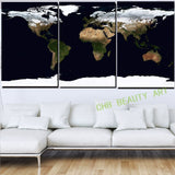3 Piece Canvas Wall Art Water World Printed Painting On Canvas Wall Pictures For Living Room Decorative Pictures Unframed