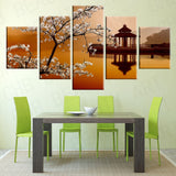 5 Panel Large Wall Art Sea Sunshine Canvas Painting Print On Canvas Wall Pictures For Living Room Decorative Picture Unframed