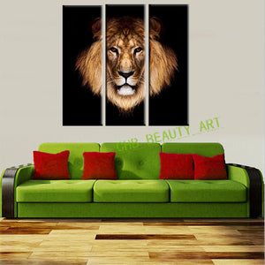 3 Piece Canvas Art Lion King Picture Print On Canvas Painting Wall Pictures For Living Room Decorative Pictures Unframed