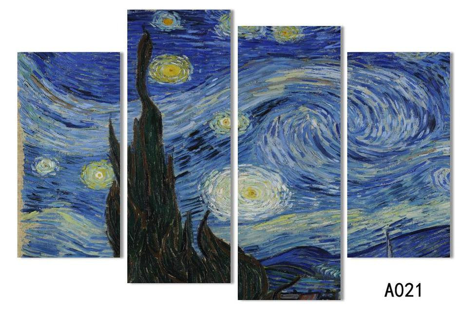 4panel / set Hot Sell Free Shipping Abstract HD Oil Painting print on canvas Home Wall Decoration Art wholesale