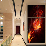 3 Piece Free Shipping Cheap abstract Modern Wall Painting art  flower Home Decorative Art Picture Paint on Canvas Prints A059