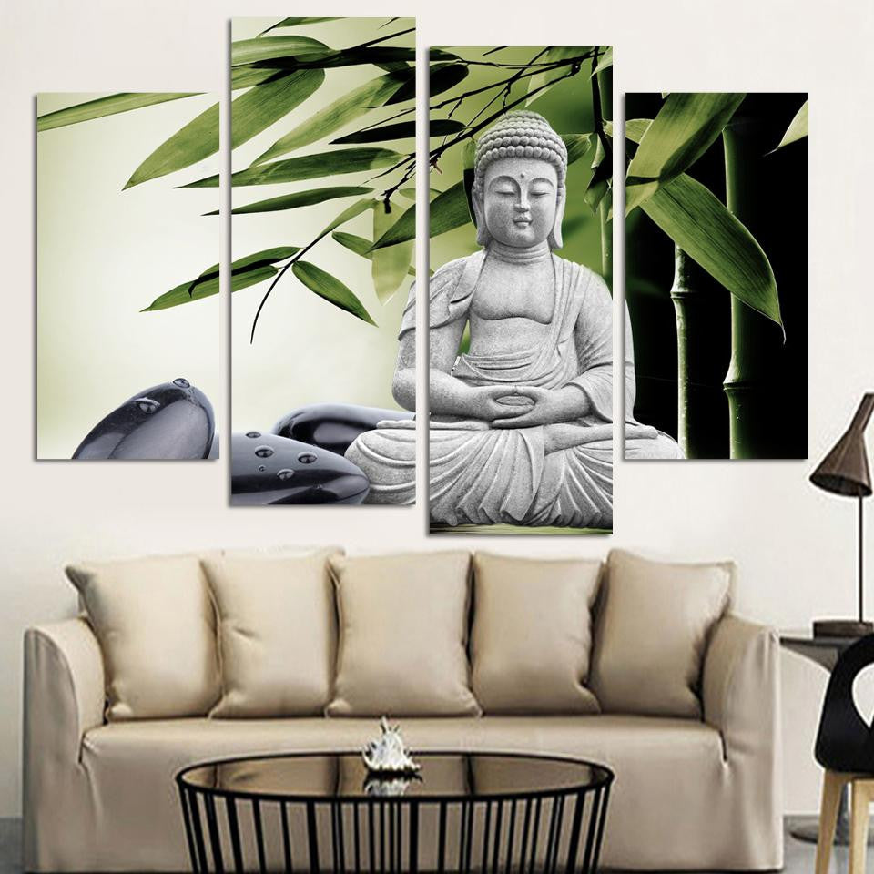 Modern Buddha Painting 4 Picture Home Decoration marble buddha and ...