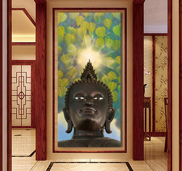 3 Pcs/Set Buddha Painting Art On Canvas buddha vertical forms Canvas Print Decorative Picture Modern Wall Paintings FX046