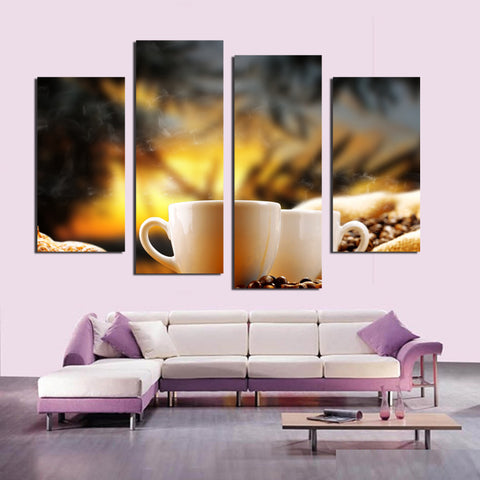 2017 new abstract Coffee coffee beans Decorative Pictures  Cuadros Decoracion  For Home Decor Wall Canvas Pictures F18834