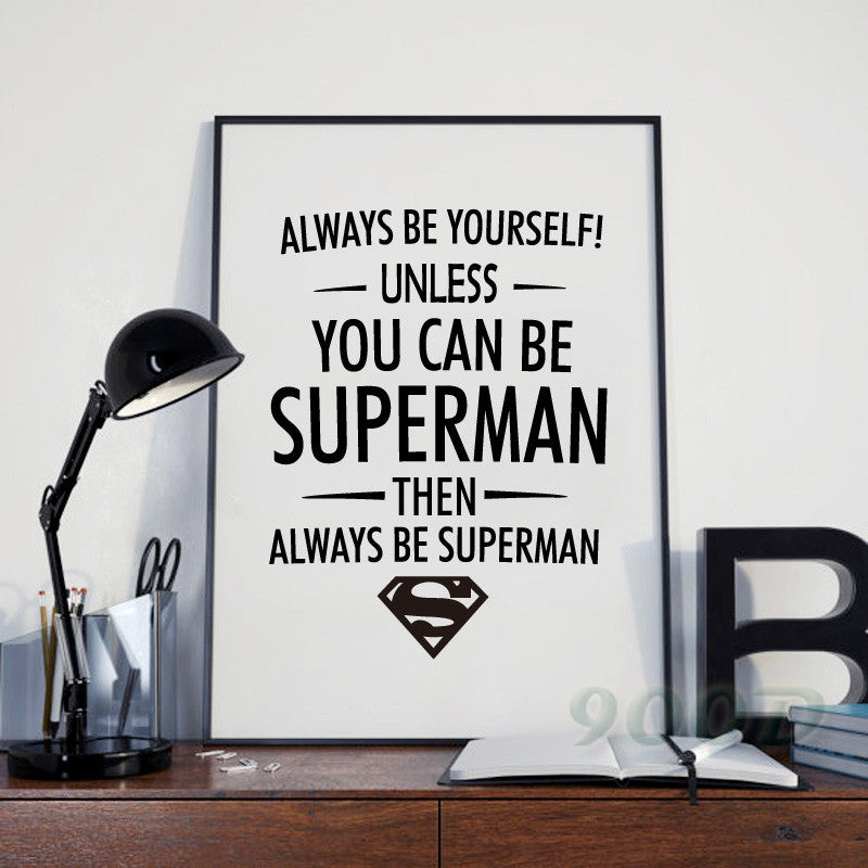 Superman Quote Canvas Art Print Poster, Wall Pictures for Home Decoration, Frame not include FA308