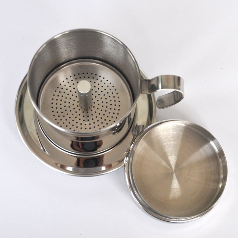 The Portable Stainless Steel Vietnam Coffee Dripper Filter Coffee Make Ellaseal