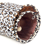 New Pet Tunnel Bulk Cat Toys Cat Tunnel Leopard Print Crinkly Cat Fun 2 Holes Long Tunnel Kitten Toys Rabbit Play Tunnel