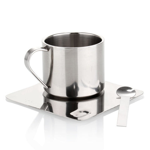 150ML stainless steel coffee mugs and tea cups / high-quality cup and saucer coffee and tea spoon combination package tool C-031