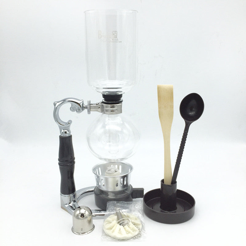 3 cups siphon coffee maker / high quality glass syphon strainer coffee pot Siphon pot filter coffee tool YT-3