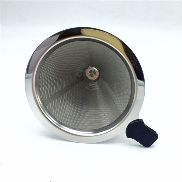 Free shipping stainless steel coffee filter / coffee filter cup portable manual brew drip filters coffee tea tools 1-2cup 3-4cup