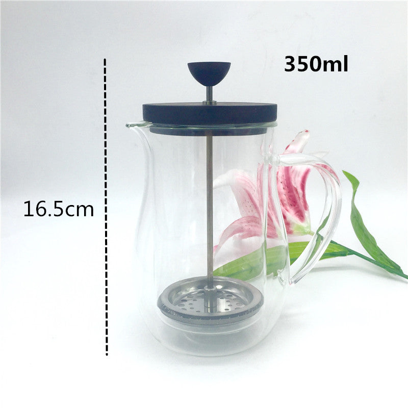 350ml 600ml French press pot / glass insulation cup coffee tea french presses percolators coffee maker Metal filter press pot