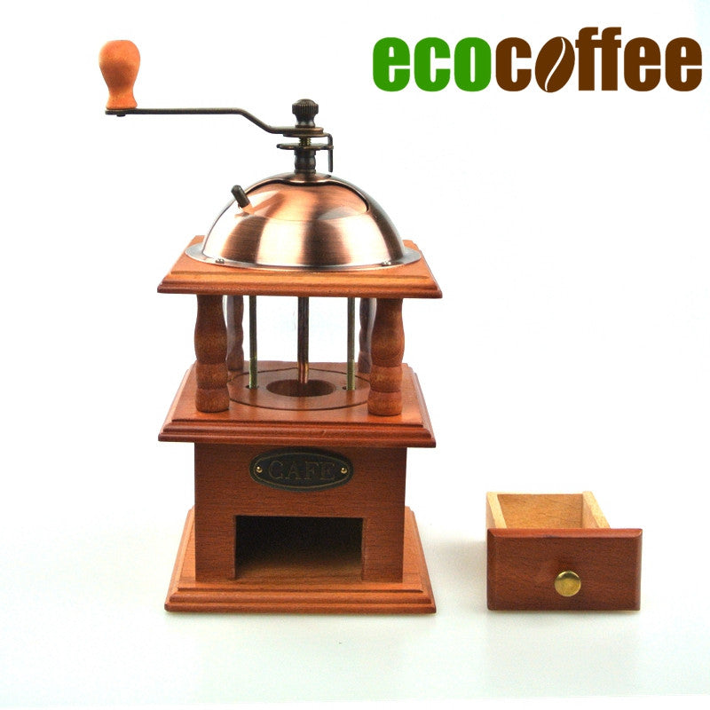 1pc Free Shipping Espresso Coffee Maker Coffee Mill Metal Core Coffee Grinder